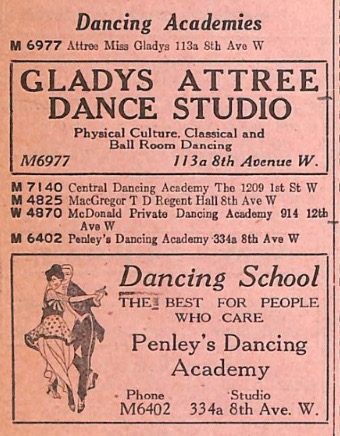 Pink Pages listings, 1921