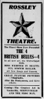Display ad for Rossley's Star Theatre, 1914