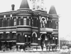 Market Hall, Main Street just south of Hastings, 1890; from 1898 to 1927, it served as Vancouver City Hall with the City Hall Theatre located on the second floor