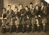 Alice Murdoch Adams, Frank Newton and fellow Highland dancers, 1930s