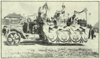 A patriotic tableau vivant on a float in the Peace Parade, August 1919